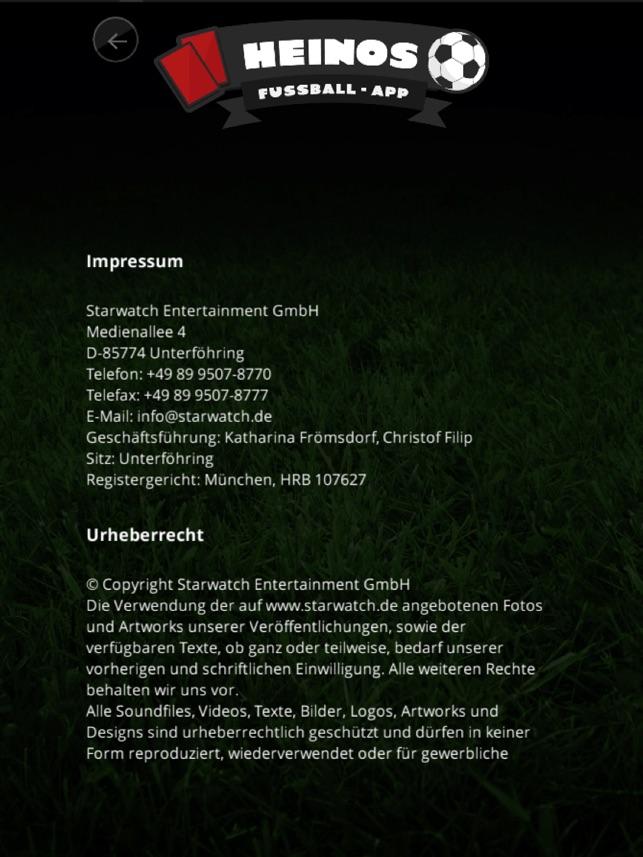 HEINOs Fussball App on the App Store