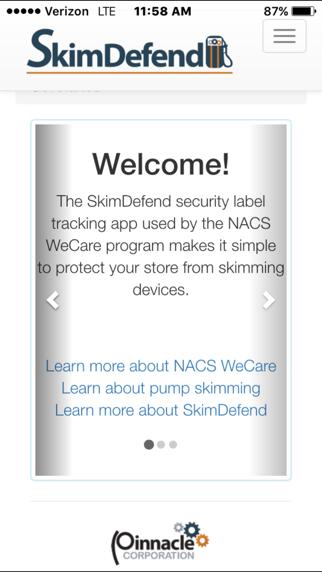 SkimDefend screenshot one