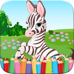 My Zoo Animal Friends Draw Coloring Book World For Kids By Nuttachai