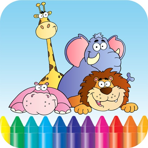 Baby Animals Kids Coloring Book For kindergarten and toddler
