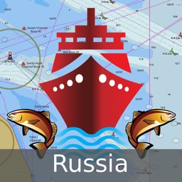i-Boating:Russia rivers, lakes & waterways - Nautical/Marine Charts & Fishing Maps