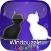 風パズルColorful 黒猫と白猫の幻想曲