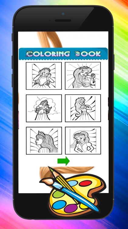 Princess Coloring Pages Coloring Set In Pictures