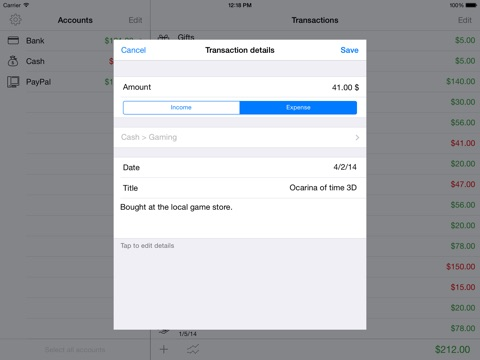 moneyfiles the simple expenses tracker app price drops