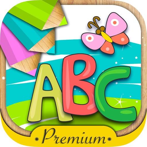 Abc Abecedario Para Pintar Juego Educativo De Alfabeto Inglés Con Dibujos Para Colorear Premium