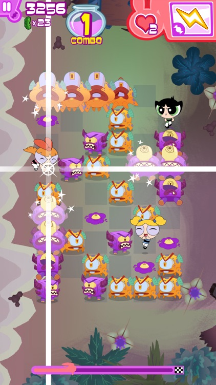 Flipped Out – The Powerpuff Girls Match 3 Puzzle / Fighting Action Game screenshot-4