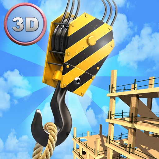 Tower Crane 3D Simulator - Start a construction, build a city!