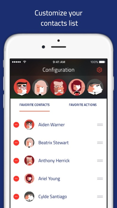 Veer launcher - Contacts widget for notification center by Veecards screenshot four
