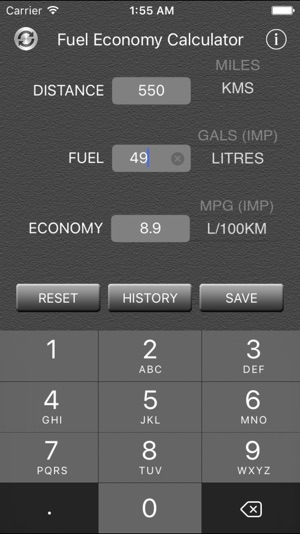 Fuel Economy Calculator And Converter 4