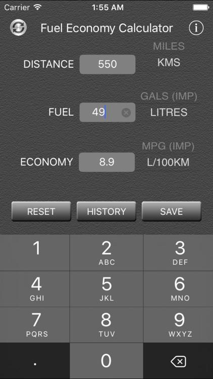 Fuel Economy Calculator and Converter