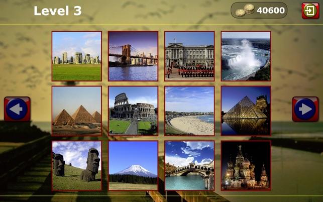 Welcher Ort in der Welt? Sightseeing-Wort-Quiz Screenshot