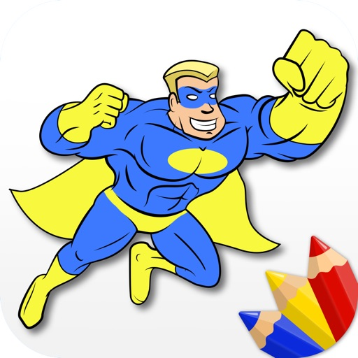 Superheroes - Coloring Book for Little Boys and Kids