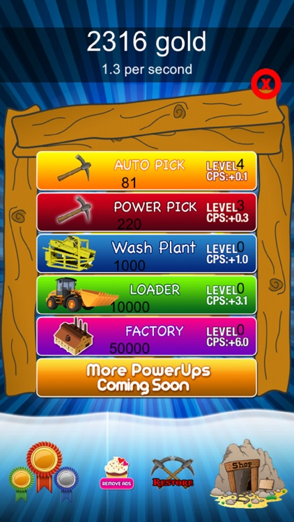 Craft Clicker Miner - Gold screenshot-3