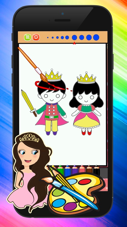 Princess Coloring Pages Coloring Set In Pictures screenshot-3