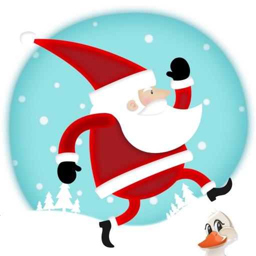 Santa Claus brings Christmas Presents - Run and Jump Loop