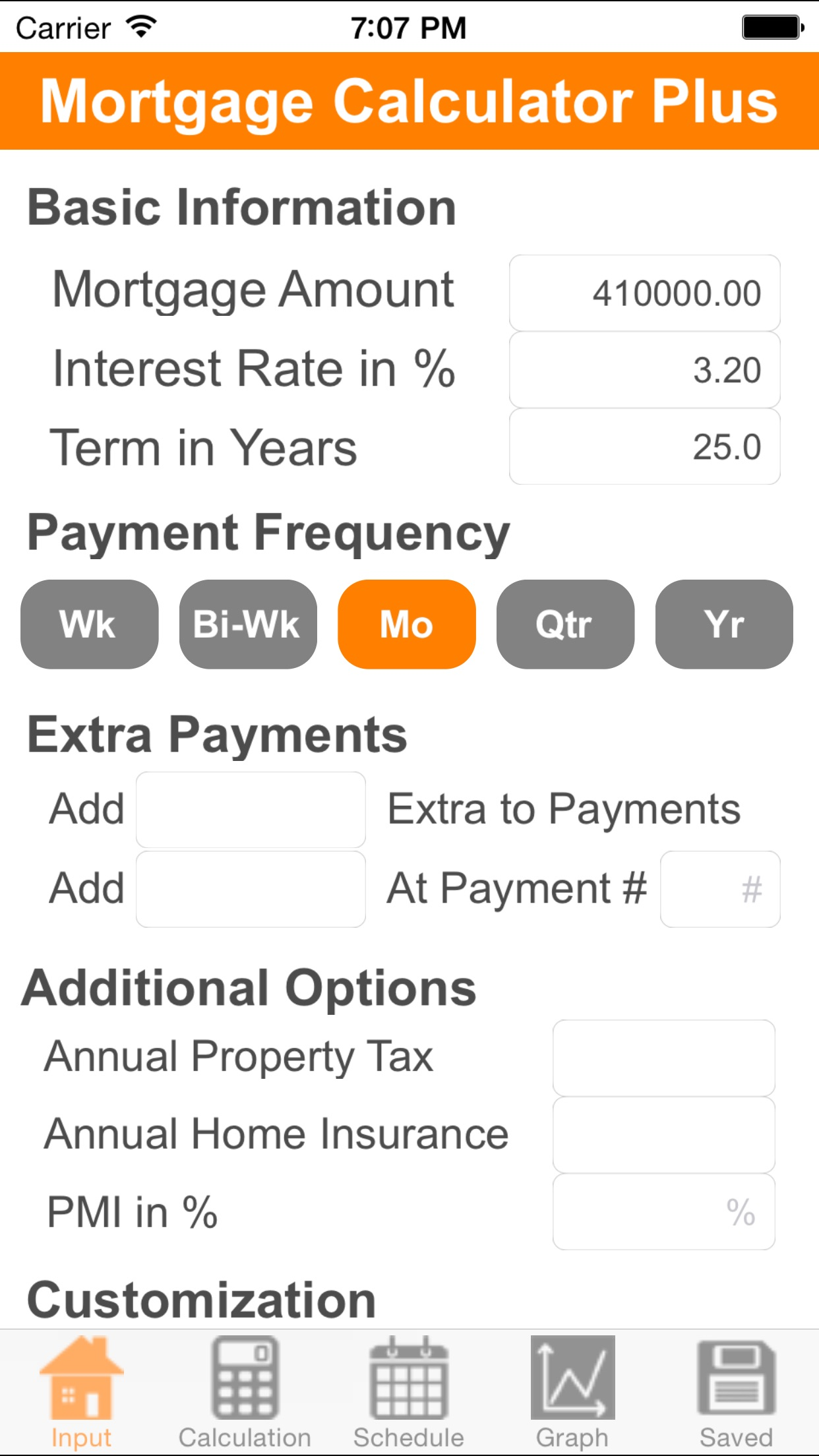 Mortgage Calculator Plus Screenshot