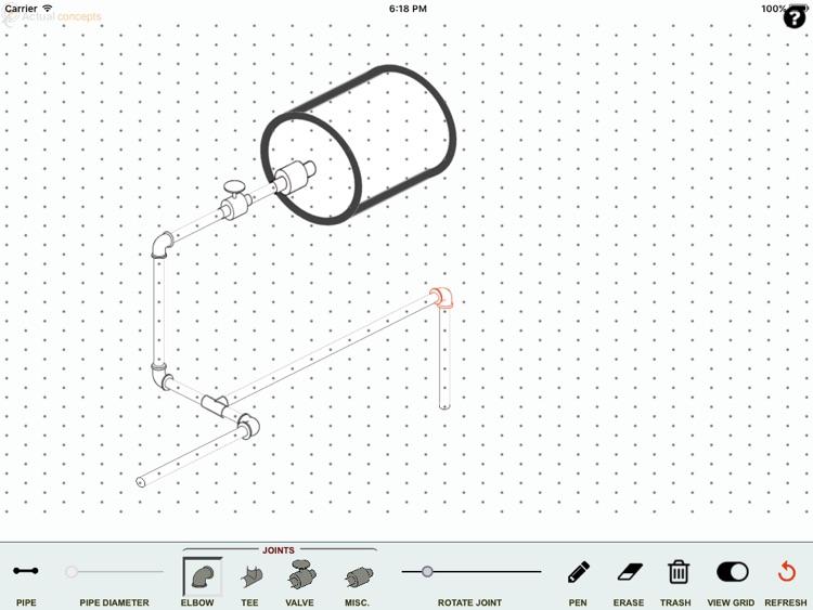 Isometric pipe design