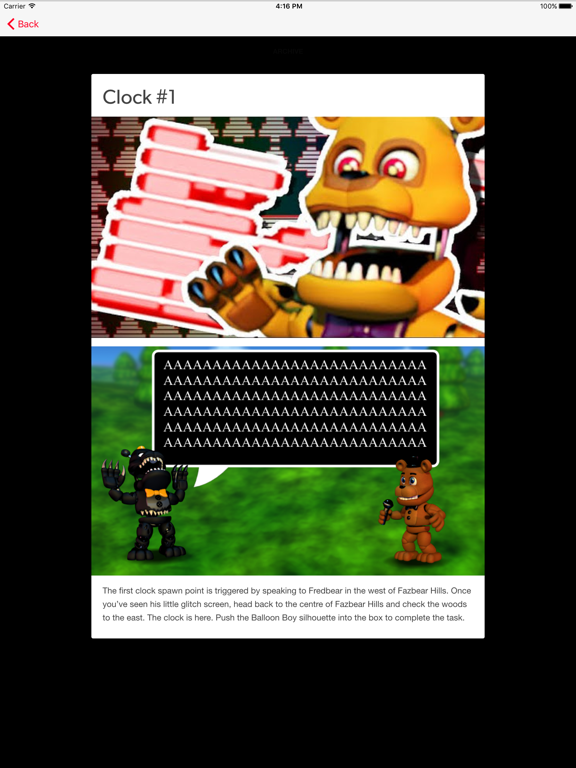 Cheats for FNAF World - Unlock every ending and beat the game with ease! |  App Price Drops