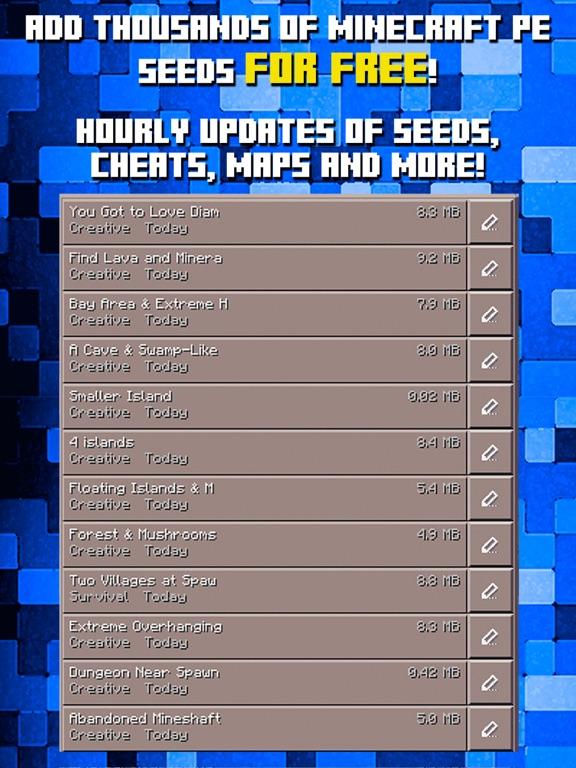 Seeds for Minecraft PE : Free Seeds Pocket Edition - Revenue