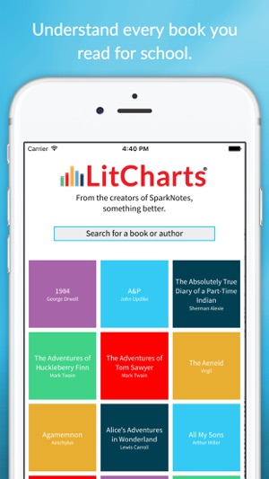 LitCharts is a popular book summary and literature study guide website similar to Sparknotes.