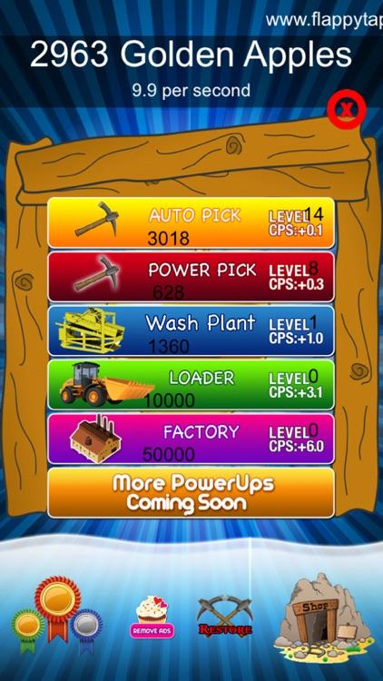 Craft Clicker Miner - Golden Apple screenshot-3