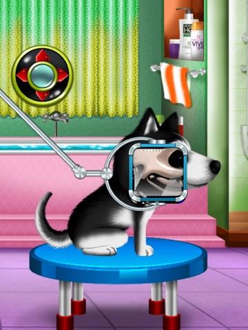 Игра мыть и лечить домашних животных : помочь кошек и щенков !