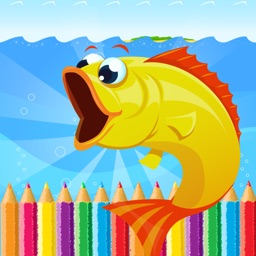 Sea Animal Coloring Book - All In 1 Deep Sea Draw Paint And Color Pages Games For Kids