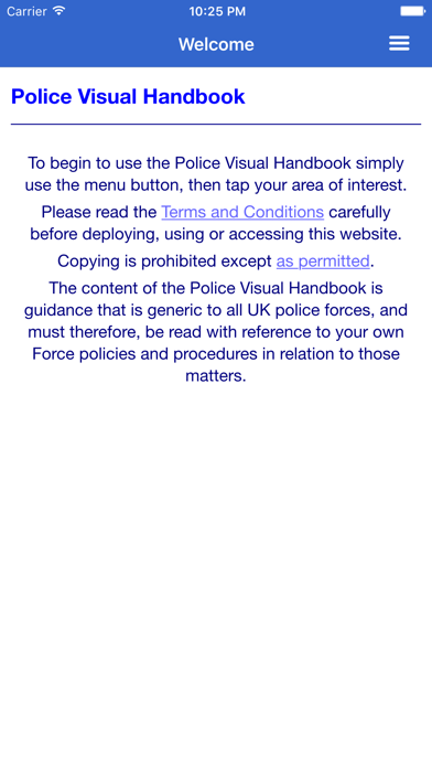 PVH - Police Visual Handbook screenshot one