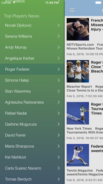Tennis News & Results Pro screenshot-4