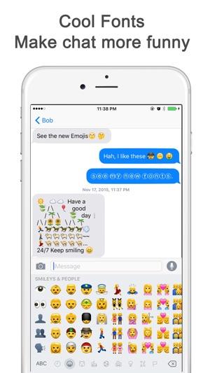 Cool emoji texts