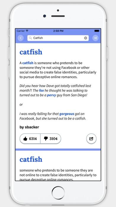 Screenshot 2 for Urban Dictionary's iPhone app'