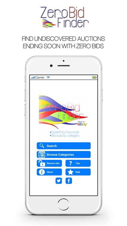Zero Bid Finder for eBay - Shop, Buy & Save! app image