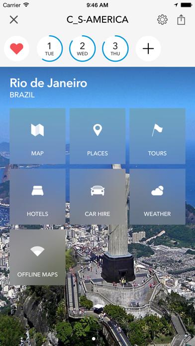 Screenshot of Pianificatore, guida di viaggio e mappa offline per Messico, Caraibi, America Centrale e Brasile1