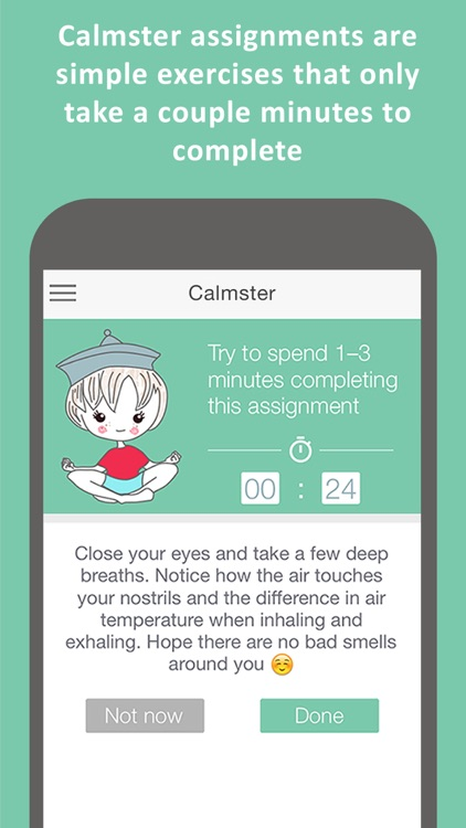 Calmster - Quick Help with Stress, Depression, Anxiety, PTSD, OCD, Panic Attacks and ADHD disorders