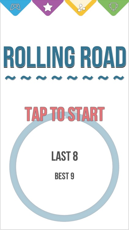 Rolling Road - Round Circle Road Game