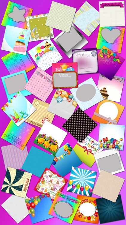 Birthday Photo Frames and Stickers