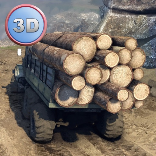Offroad Logging Truck Simulator 3D Full - Drive and transport cargo! icon