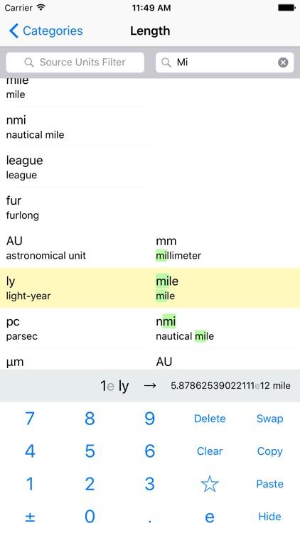 Convert Units Easy - metric to imperial units screenshot-3
