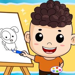 乐乐学画画,幼儿学画画,儿童学画画免费