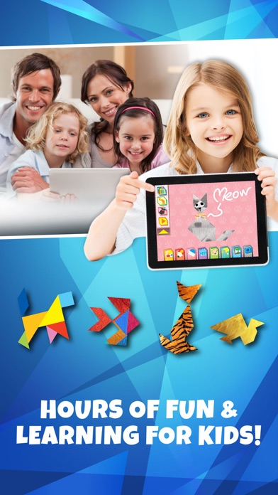 Kids Learning Puzzles: Dance, Tangram Playground Screenshot on iOS