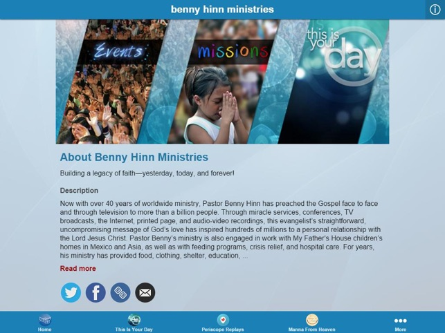 Benny Hinn Ministries on the App Store
