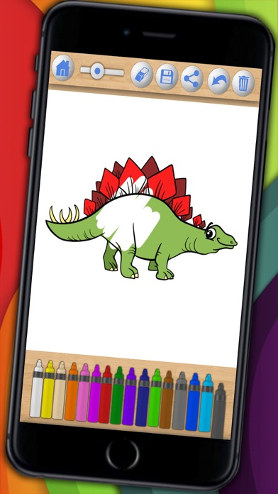 Dinosaurs Coloring book  & Paint the Jurassic