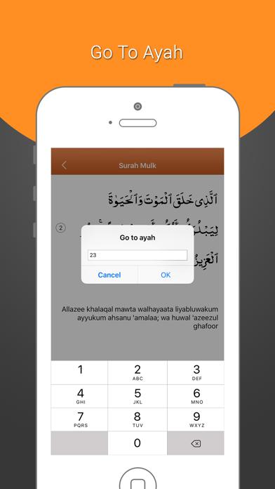 Surah Mulk-With Mp3 Audio And Different Language Translation screenshot four