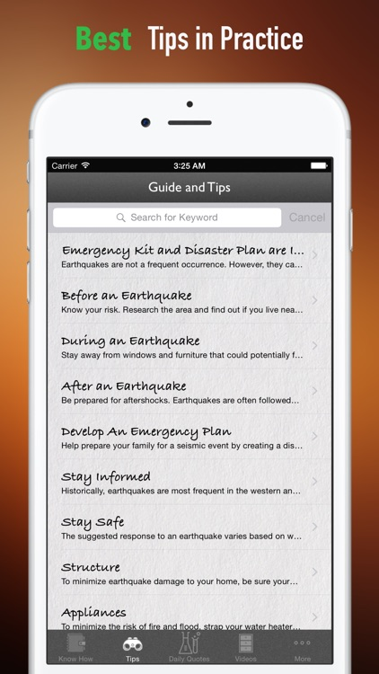 Be Prepared: Earthquake Safety Tutorial and Tips screenshot-3