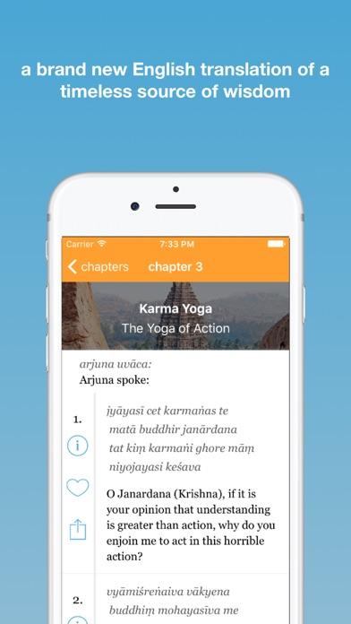 Screenshot for Bhagavad Gita App in United States App Store