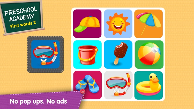 First Words 2 -  English : Preschool Academy educational matching game for Pre-k and kindergarten children screenshot-3