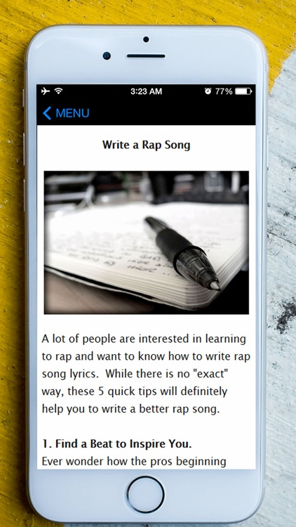 How To Rap - Best Guide To Learn Rap Beats, Songs, Lyrics and Battles For Advanced & Beginners screenshot-2