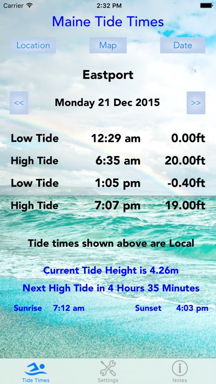 Maine Tide Times