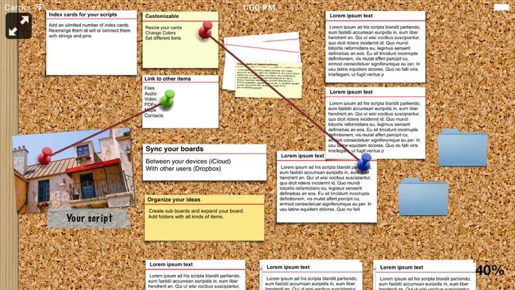 Pinnic - bulletin board with photos files audio screenshot-3