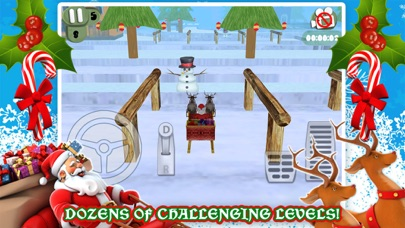 3Dサンタのそりのクリスマス駐車場ゲーム無料のおすすめ画像3